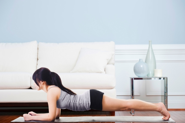 Low Plank to High Plank Exercise