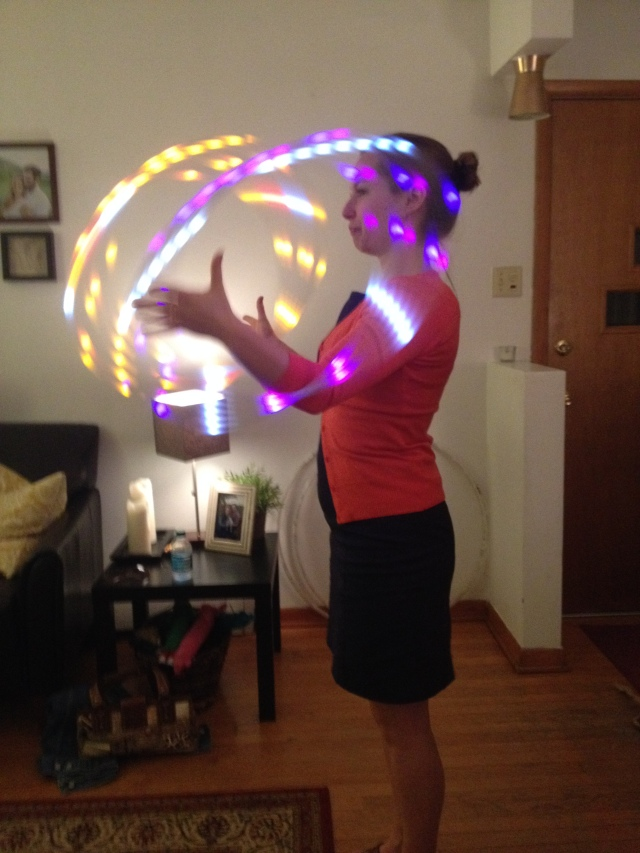 learning to do hoop. it's my new favorite hobby!