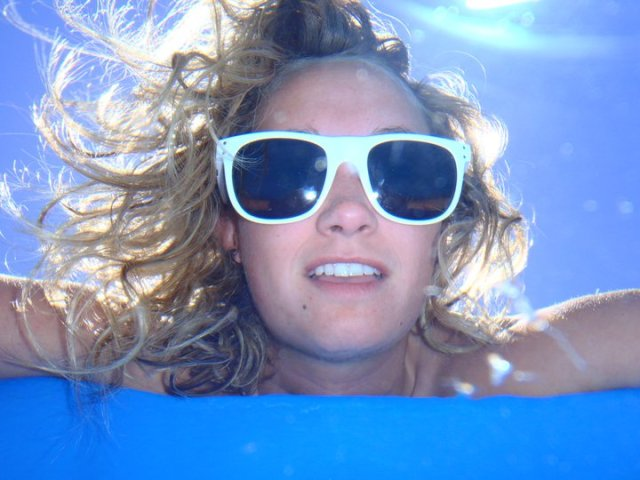 One of my favorite pictures from South America. Taken from under the water looking up and out!