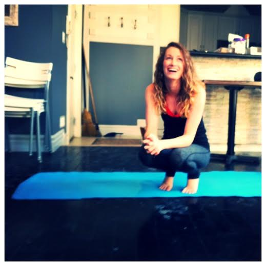 Smiles on the mat after teaching my lunch time Yoga Tuesdays class at Me To We Style