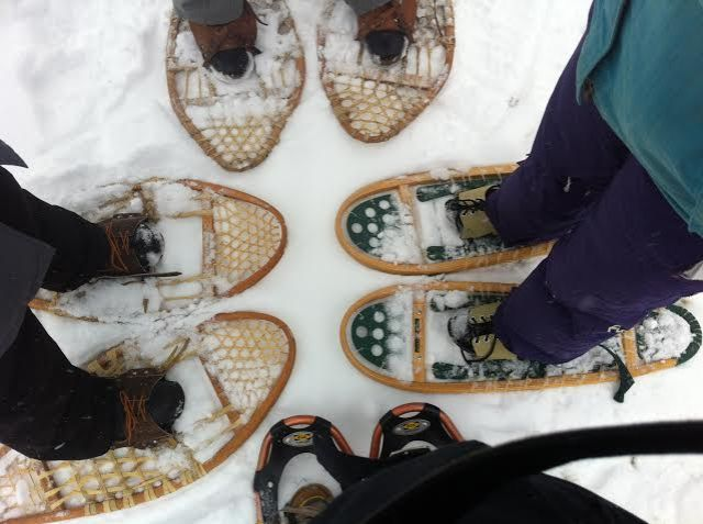Snowshoeing up in the Muskokas with my girlfriends